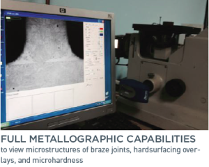 Full Metallographic Capabilities